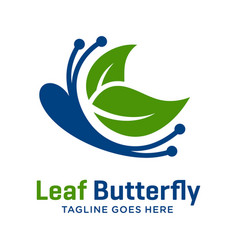 natural butterfly logo vector image