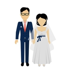 Newlyweds Couple Design Banner Concept vector image vector image