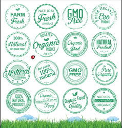 organic badges grunge stamp vector image