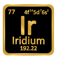 Periodic table element iridium icon vector