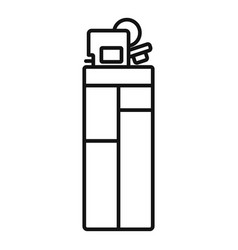 plastic cigarette lighter icon outline style vector image