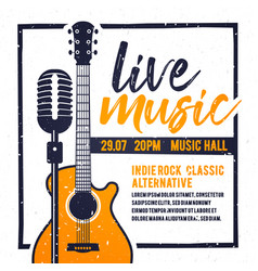 poster for live music festival in retro style vector image