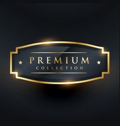 Premium collection golden badge and label design vector