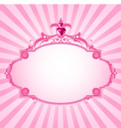 Princess frame vector