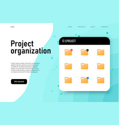 Project organization folder board with project vector