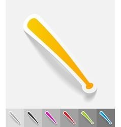 Realistic design element baseball bat vector