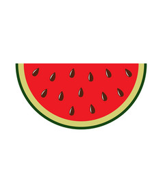 red watermelon icon vector image
