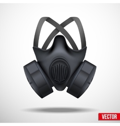 Respirator mask isolated white background vector