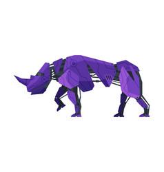 Rhinoceros wild animal robot artificial vector