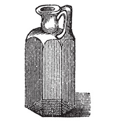 Roman oil vase was produced in enormous vector