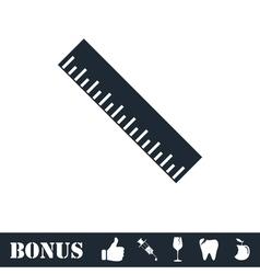 Ruler icon flat vector