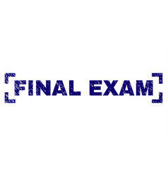 Scratched textured final exam stamp seal inside vector