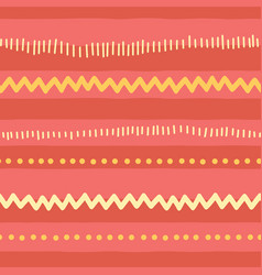 seamless doodle pattern horizontal stripes vector image