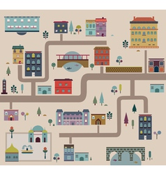 set city streets infographics vector image