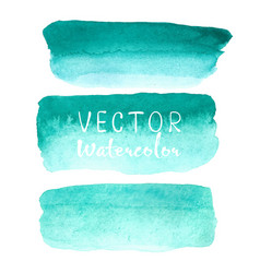 set of watercolor brush on white background vector image