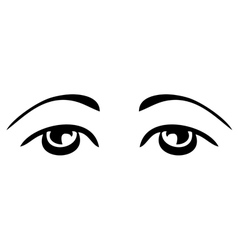 simple sad eyes vector image