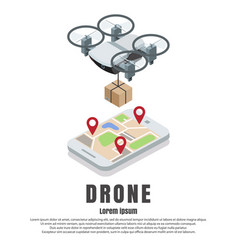 smartphone drone isometric vector image