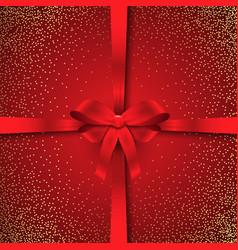 sparkle christmas ribbon background vector image