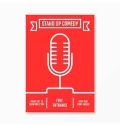 Stand up comedy in night vector
