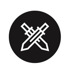 swords icon vector image
