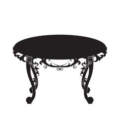 Table Desk Home Office Furniture Design - vector