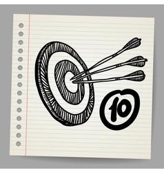 Target mission doodle vector