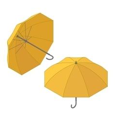 Umbrella icon isometric symbol flat vector