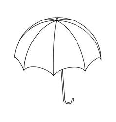 umbrella silhouette outline symbol icon design vector image