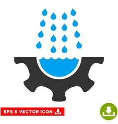 Water Shower Service Gear Eps Icon vector