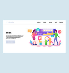 Web site design template customer review vector