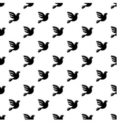 white peace pigeon pattern seamless vector image