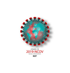 World pandemic concept novel coronavirus covid19 vector