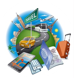 world travel concept vector image