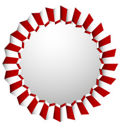 Zigzag rosette badge cockade isolated on white vector
