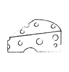 cheese slice icon image vector image