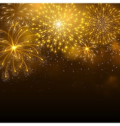 Firework gold vector image