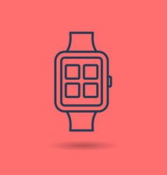isolated linear icon of smart watch vector image vector image