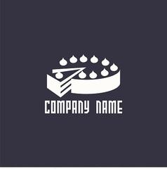 logo cake vector image