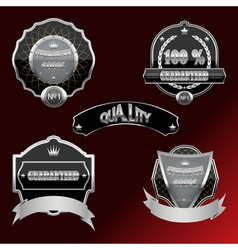 Set of labels and design elements vector image vector image