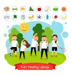 Sport children summer activity vector image vector image