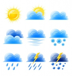 weather climatic icon vector image vector image