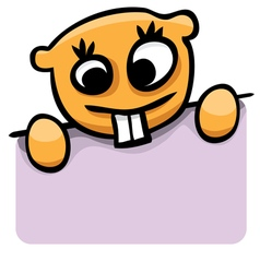 cartoon gopher with a poster vector image
