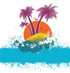 symbol of tropical island vector image vector image
