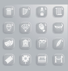 Theatre simply icons vector