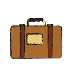 Travel suitcase isolated vector