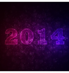 Abstract background with 2014 vector image