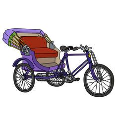 Classic violet rickshaw vector