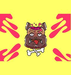 dead brainy dog vector image vector image