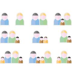 people flat symbols vector image vector image