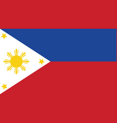 philippines flag for independence day and vector image